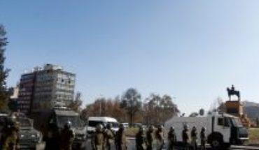 Carabineros confirms Covid-19 case among detainees today in Plaza de la Dignidad