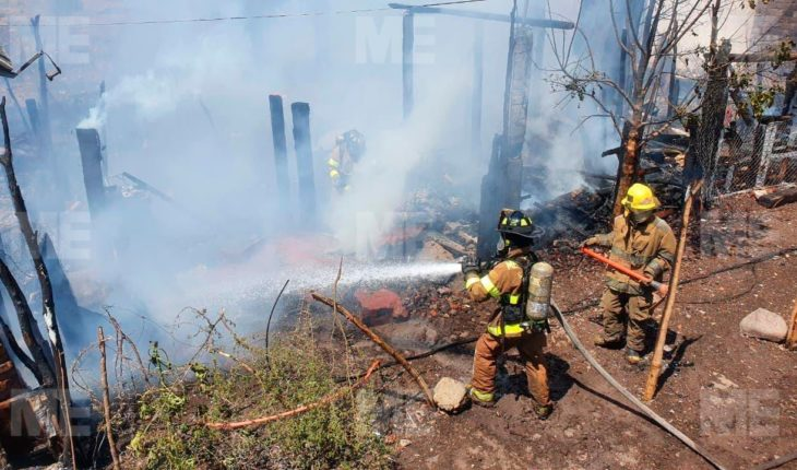 Humble homes were consumed by a fire in Zamora
