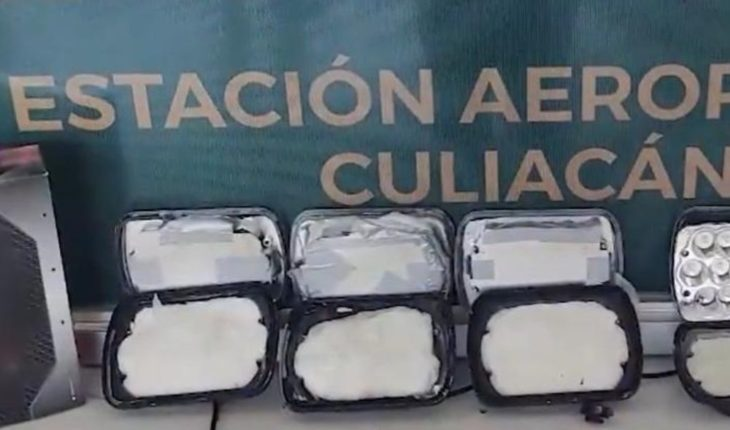 Locate National Guard crystal in car lighthouses at Culiacán airport