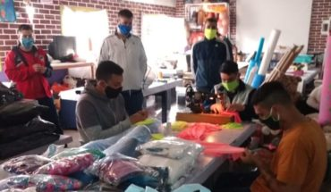 Prisoners made sanitary kits and donated them to two hospitals in La Plata