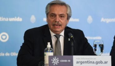 The Ministry of Health acknowledged an error in Alberto Fernández's graphics