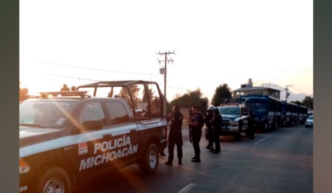 There are 13 arrested by blockades in Zitácuaro, Michoacán