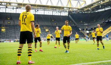 With Borussia's goal against Schalke, Bundesliga returns