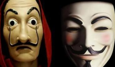 Adolescentes en redes creen que la mascara de 'Anonymous' es copia de 'La Casa de papel'