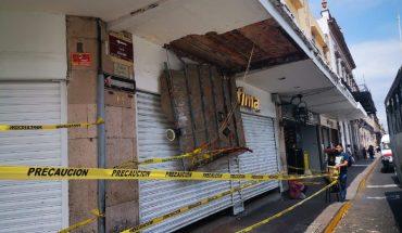 Ayuntamiento de Morelia realiza delimitación de inmueble céntrico por colapso de plafón