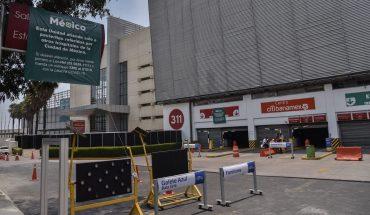 Camilleros de unidad COVID de Citibanamex protestan por despidos
