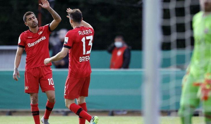 Con gol de Alario, Bayer Leverkusen se metió en la final de la DFB Pokal