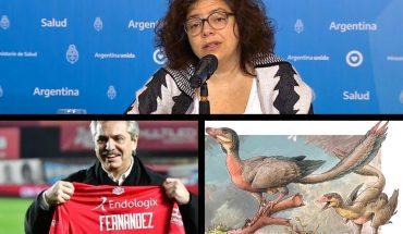 Contagios récord y 656 muertos por coronavirus; Alberto sobre la vuelta del fútbol; Día del Periodista; descubren un nuevo dinosaurio en la Patagonia y más...