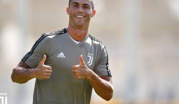 Cristiano Ronaldo al máximo en el entrenamiento