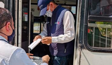 Cubrebocas obligatorio para chóferes de transporte público, habrá sanciones: Cocotra