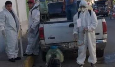 Desinfectan diferentes puntos de Villa Unión, Sinaloa contra Covid-19