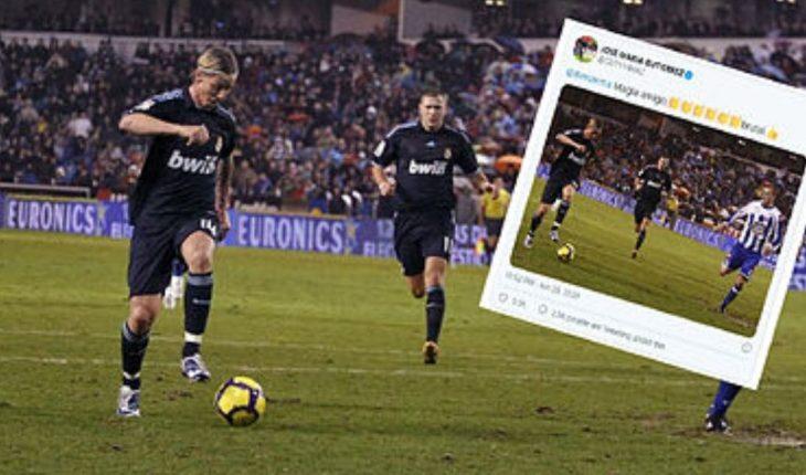 Guti maravillado con el taconazo de Benzema y le deja un mensaje