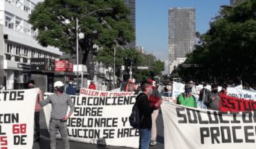 Maestros de Michoacán realizan bloqueos sobre paseo de la Reforma