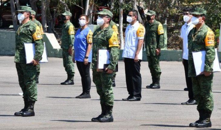 Mazatlán: Distinguen y recompensan personal militar su valor frente al Covid-19