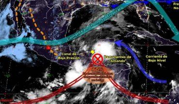 Pronóstico del clima de hoy: Tormenta tropical Amanda traerá lluvias a México