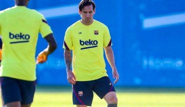 """Quique Setién calmó los rumores: """"Messi está al cien por cien"""""""