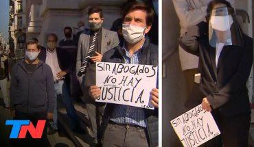 Coronavirus | Otra protesta en cuarentena: reclamo de abogados independientes en Tribunales