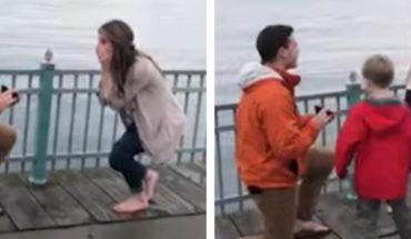 Viral: Joven le propone matrimonio a su novia y niño travieso arruina el momento