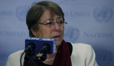"""Bachelet warns Israel by West Bank: """"Annexation is illegal. End point"""""""
