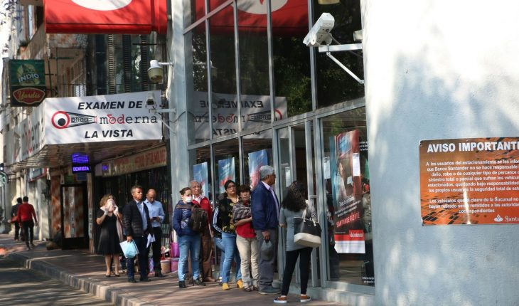 CDMX seeks to cut wages to avoid crowds in banks