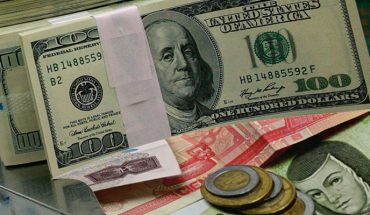 Dollar price on Monday hovers at 22.34 pesos for sale