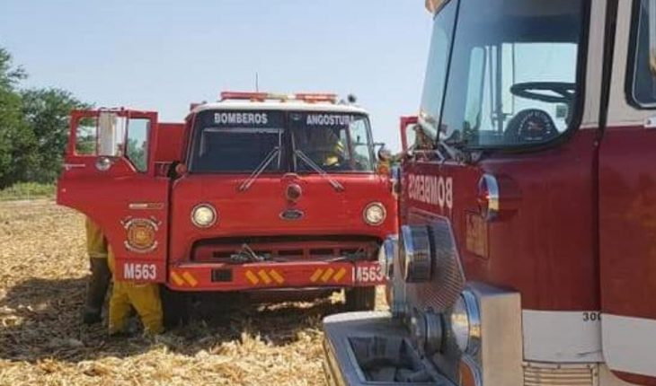 Firefighters save standing corn plots in Angostura