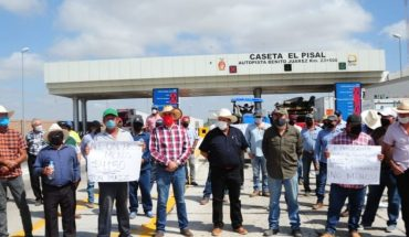 More than 2,000 producers are mobilized from El Carrizo to Mazatlan