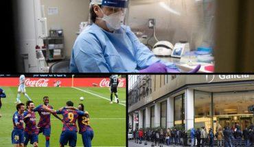 Nearly 10 million contagions worldwide, it tied Barcelona, Bilardo's health status and more...