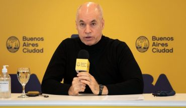 Rodriguez Larreta performed the coronavirus test and tested negative