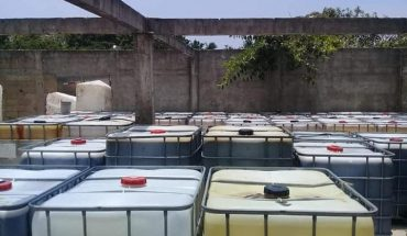"""Secure """"huachicolero"""" land in Veracruz and seized more than 50 thousand litres of stolen fuel"""