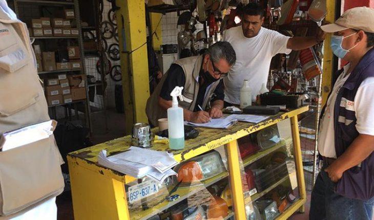 Suspended 21 non-essential establishments in Apatzingán