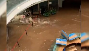 The historic Tournaments building in the San Telmo neighborhood was flooded