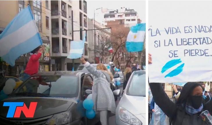 9 de Julio: banderazos en todo el país   En el Día de la Independencia, bocinazo en Córdoba