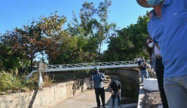 Autoridades entregan obra del colector pluvial y entubado del arroyo del piojo, Culiacán