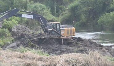 Avanza limpieza del río en Guasave; descartan inundaciones