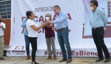 Ayuntamiento de Morelia entrega obras de mejoramiento de vivienda en zonas vulnerables