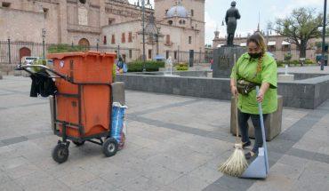 Ayuntamiento de Morelia, intensifica labores de limpieza en Centro Histórico
