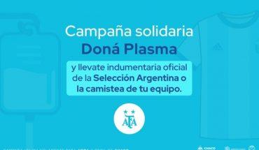 Doná plasma y llevate la camiseta de tu equipo o la Selección Argentina