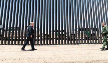 Donald Trump muestra los avances del muro fronterizo días antes a la visita de AMLO (Video)