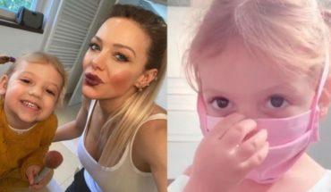 El truco de la hija de Evangelina Anderson ¡Mirá para que usa el tapaboca!