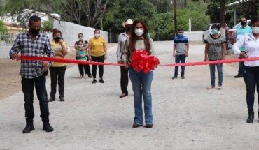 Entrega Lorena Pérez obras en Babunica y La Haciendita, en Badiraguato