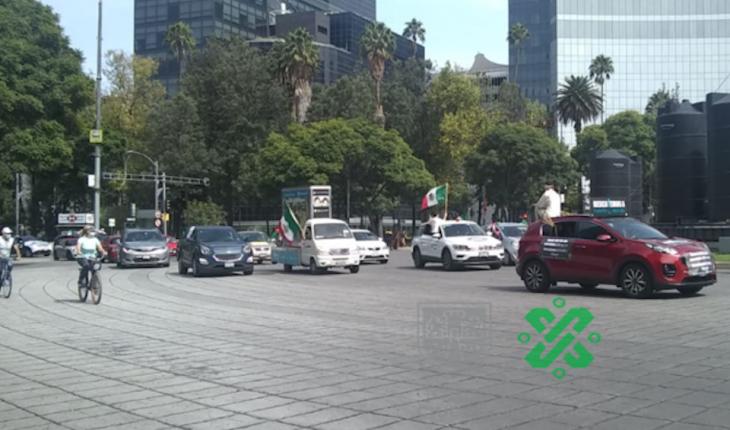 FRENAA realiza nueva caravana contra López Obrador en CDMX