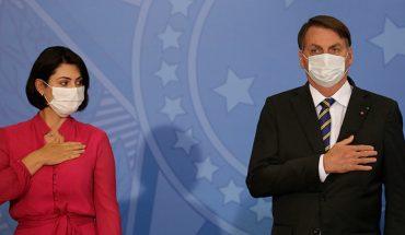 La primera dama de Brasil Michelle Bolsonaro dio positivo a Covid-19