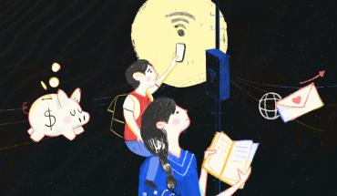 Madres salieron a buscar internet en la calle para la tarea de sus hijos