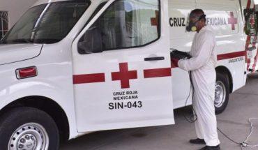 Sanitizan instituciones de Bomberos y Cruz Roja de Angostura