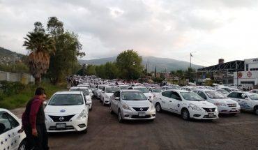 Transportistas vuelven a manifestarse contra plataformas digitales en Morelia, Michoacán