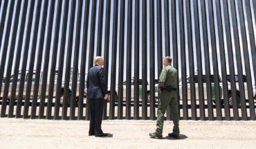 Trump presume su muro fronterizo previo a visita de AMLO a EU
