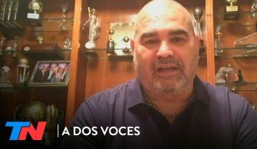 """José Luis Chilavert: """"No descarto ser candidato a Presidente""""   A DOS VOCES"""