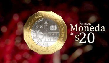 Ya está en circulación la nueva moneda de 20 pesos en honor a Veracruz