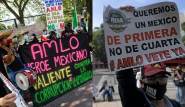 Citizens are in Mexico and the US for and against AMLO